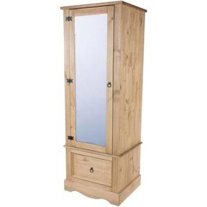 Armoire pin Antique 1 Porte miroir 1 tiroir - CANOAS