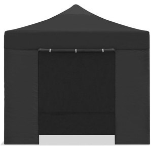 Tente pliante 3x3m impermeable pliage facile couleur Noir Gazebo -McHaus - KEWAYES