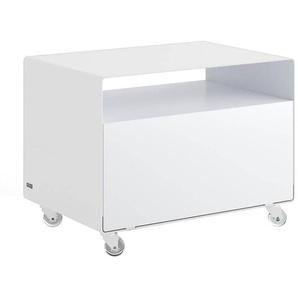 müller möbelfabrikation Caisson mobile porte abattante Mobile Line R107N - blanc de sécurité RAL9003/satin fini/avec roulettes transparentes/LxHxP 60x45x40cm