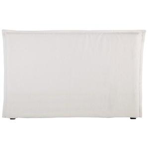 Housse de tête de lit 180 en lin lavé blanche