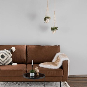 Tapis poil ras Laila Crème 230x340 cm - Tapis poil court design moderne pour salon