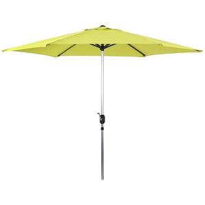 Parasol jardin droit Alu Sol - Rond - Ø 3m - Vert - HABITAT ET JARDIN