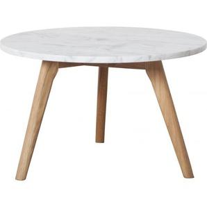 Table basse WHITE STONE marbre et bois