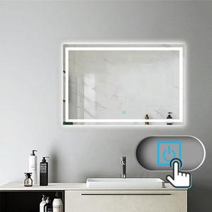 Miroir salle de bain 110x70cm anti-buée Mural Lumière Illumination avec éclairage LED - AICA SANITAIRE