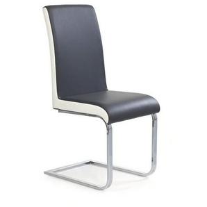Chaise noire et blanche luge Lydia