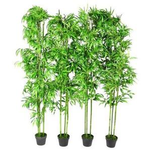 Lot de 4 bambous artificiels Décor intérieur 190 cm - VIDAXL
