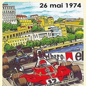 generisch Plaque en métal 20 x 30 cm Grand Prix Monaco 1974 Grand Prix Renn Auto