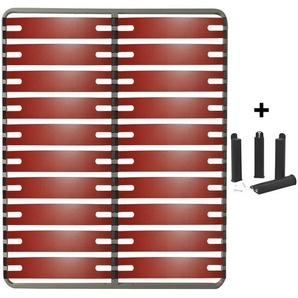 RedLine - Pack Sommier 2x10 Lattes 140x190cm + Pieds Noirs