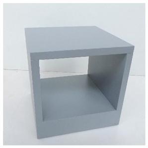 Borne extérieure carré LED 45W alu grise 240X240X240mm indirect 3000K 1099lm 230V IP54 KUBE 240 SIMES S.6340W.14
