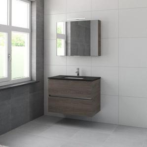 Bruynzeel Miko Meuble avec armoire de toilette 90cm Chêne orlando 226572k