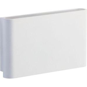 ENZO-Applique dextérieur LED Rectangulaire Aluminium L17cm Blanc Oggi Luce