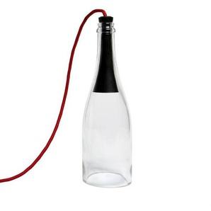 BOUTEILLE TORCHE-Lampe à poser LED H29cm Transparent LAtelier dExercices