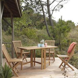Salon de jardin en bois de teck 130 Capri 4