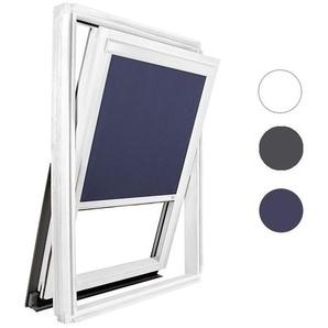 Store occultant bleu pour fenêtre de toit Velux ® SK08 - Cadre alu blanc - AVOSDIM