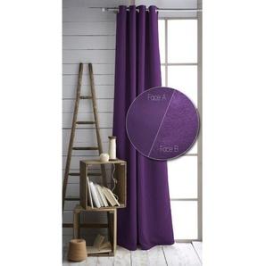 TODAY Lot de 2 rideaux isolants thermiques à Œillets - 100% polyester - 140 x 240 cm - Doublure polaire - Violet foncé
