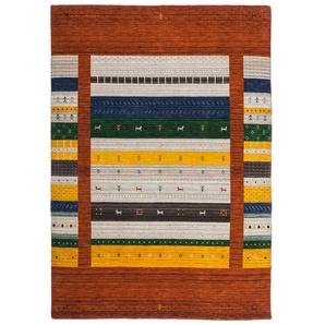 Tapis noué main ethnique en laine Himalaya Rouge 160x230 - Rouge - LALEE