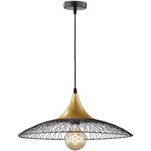 Suspension LED RVB, grille, or, dimmer, H 140 cm, PARGAS - ETC-SHOP