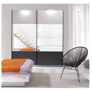 Armoire design RENATO 2 portes coulissantes avec miroirs - PRICE FACTORY