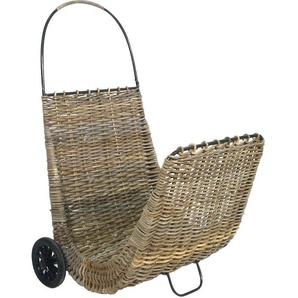 Chariot à bûches sur roulettes en poelet Gris - Gris - AUBRY GASPARD
