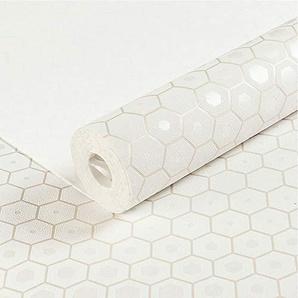 Personnalité minimaliste moderne papier peint intissé maison canapé salon chambre décoration murale papier peint en treillis (Color : Beige white)