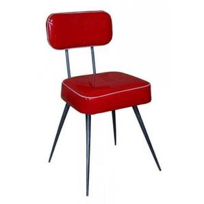 Chaise vinyl rouge
