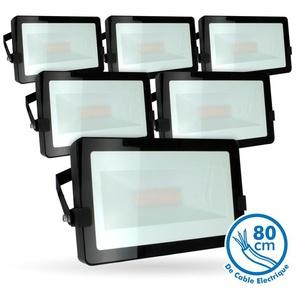 Lot de 5 Projecteurs LED 50W Noir Extérieur IP65 | Température de Couleur: Blanc chaud 2700K - ECLAIRAGE DESIGN