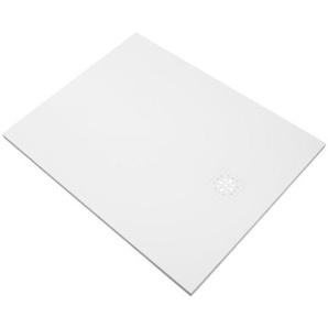 Saniclass Relievo Receveur de douche 120x100cm Fine Stone antibactérienne et antidérapant blanc mat avec siphon peu profond 90mm 9232