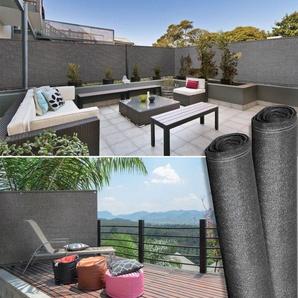 Brise vue haute densité 1,2 x 10 m gris 300 gr/m² qualité pro - IDMARKET