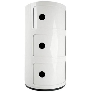 Kartell Componibili 3 - Conteneur - blanc/brillant/H 59cm/ Ø 32cm