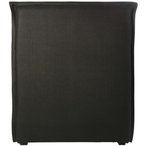 Housse de tête de lit 90 en lin lavé gris charbon