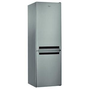 Réfrigérateur Combiné Whirlpool BLFV8121OX - 338 litres Classe A+ Inox optique