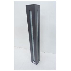 Borne extérieure LED 24W gris anthracite H500mm 3000K 1560lm 230V 4 faisceaux IK08 IP54 VIGIE TRAJECTOIRE 002266