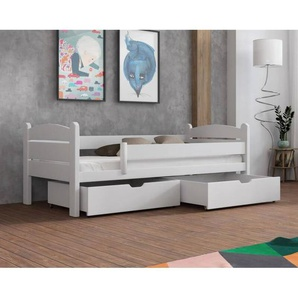 Lit Matis junior personnalisable - Blanc - 80 cm x 160 cm