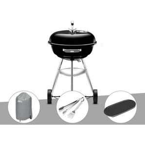 Barbecue Weber Compact Kettle 47 cm + Housse + Kit Ustensile + Plancha