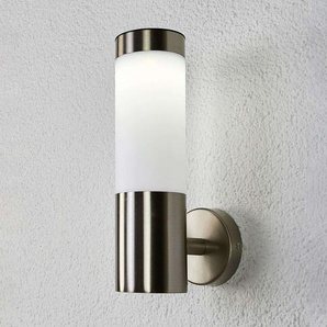 Applique murale solaire LED cylindre Aleeza, inox
