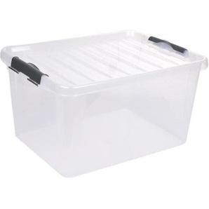 Boîte de rangement Clip Box Light 14 L 39x28,5x18 cm transparent et anthracite