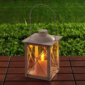 Lanterne solaire LED Basila en blanc