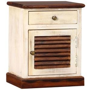 Table de nuit chevet commode armoire meuble chambre armoire de chevet bois de sesham et de manguier 30 x 40 x 50 cm - Bois - HELLOSHOP26