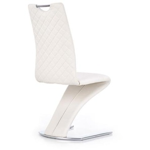 Chaise suspendue design blanche Magnus