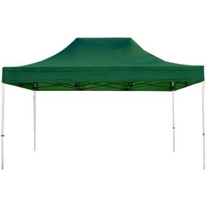 Tente pliante / pliable PREMIUM 3x4,5 m sans bâches de côté en Polyester de qualité vert fonce - INTENT24.FR