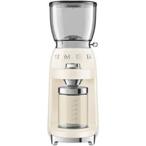 Smeg Moulin à café CGF01 - crème/laqué/3 degrés de broyage/8 programmes de meulage programmés