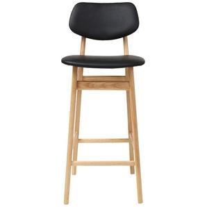 Tabouret / chaise de bar design bois NORDECO - Noir - MILIBOO
