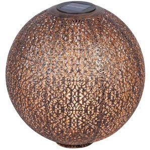 Lampe solaire LED Eddis déco, sphère, cuivre