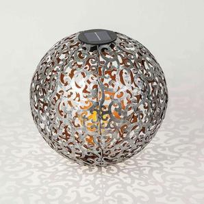 Lampe solaire LED Eduta déco, sphère argent-or