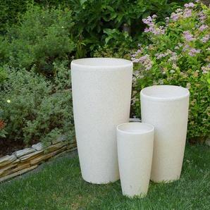 Petit vase blanc en forme ronde ABDERA