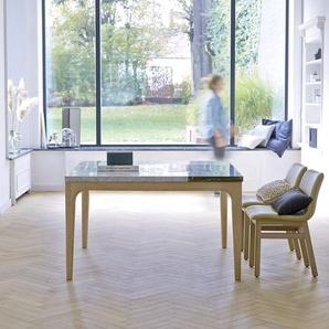 Table Stonepiet en bois de chêne et marbre 131