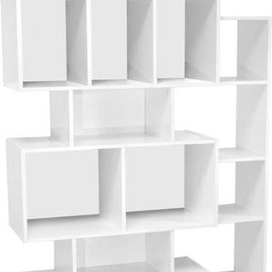 Étagère blanc 16 niches de rangement