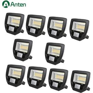 10×Anten Spot LED 50W Projecteur LED IP65 Éclairage Extérieur et Intérieur Blanc Chaud 3000-3500K