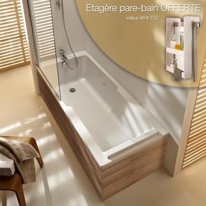 Jacob Delafon - Ensemble baignoire Struktura + pare bain + tabliers, 170 X 75