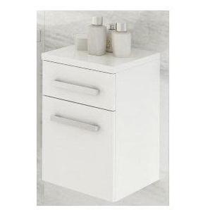 Meuble de salle de bain OLEX Blanc 80cm - Colonne : sans colonne - Blanc - AZURA HOME DESIGN